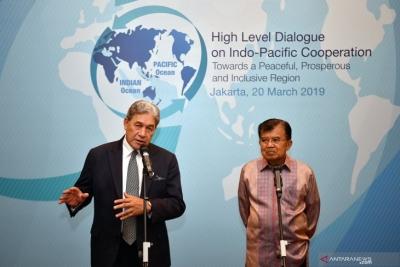 التقى نائب رئيس جمهورية إندونيسيا بنائب رئيس وزراء نيوزيلندا لمناقشة قضية إرهاب كرايستشيرش