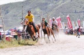 Pacu Kude in de stad Gayo, provincie Atjeh