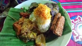 De Punel Rijst, lekkere traditionele gerecht van Pasuruan, Oost Java