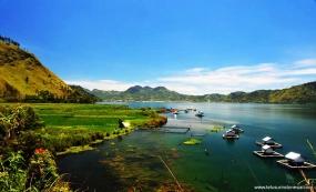 Het meer van Lut Tawar in Gayo, Aceh