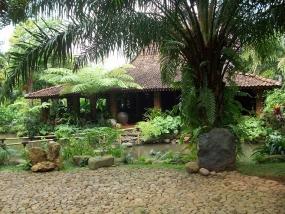 Lerep toeristisch dorp in de stad Magelang, Provincie Midden Java