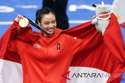 President Jokowi waardeerde de gouden medaille van Wushu in Asian Games 2018