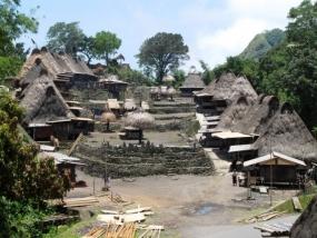 Het dorp van Bena in Oost-Nusa Tenggara