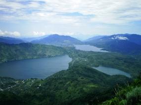 Kembar meer in Solok, West Sumatera