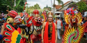 Barong Ider Bumi-Festival in Banyuwangi, Oost Java
