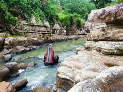 Tonjong Canyon in Tasikmalaya, West Java
