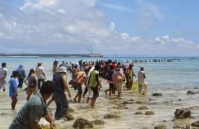 Mane'e traditie van het volk van Noord-Sulawesi,