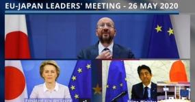 Japanse premier, EU-leiders bevestigen opnieuw toezegging tot partnerschap, reactie COVID-19