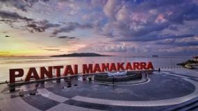 Het strand van Mamakarra in Mamuju, Oost Sulawesi