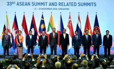 Le président Jokowi a assisté  à l'ouverture du 33e sommet de l'ASEAN