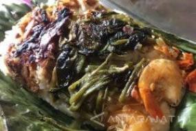 ''Nasi Serpang'', ou le riz de Serpang, l'une des spécialités de Bangkalan, Madura