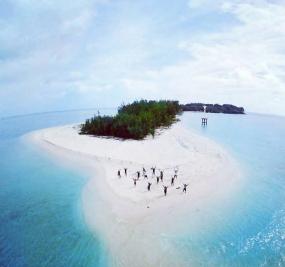 Die Birah-Birahan Insel in Ost-Kutai