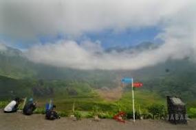 Der Galunggung-Vulkanausbruch bringt den Segen für Tasikmalaya
