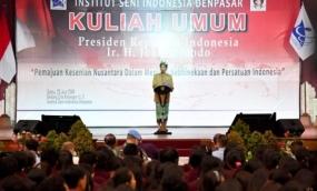 Jokowi: Infrastuktur Dukung Kemajuan Kebudayaan dan Kesenian Indonesia