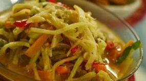 LemeaというBengkuluの典型的な料理