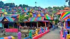 中部ジャワ州スマラン市のKampung Pelangi