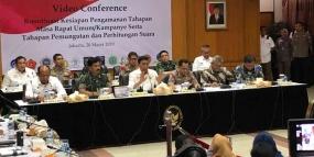 インドネシア国軍とインドネシア警察の約59万4千人の職員が2019年選挙での警備体制の準備完了