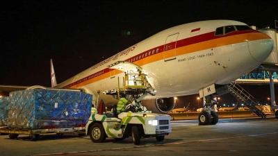 海事和投资统筹部帮助从中国引进了40吨医疗设备