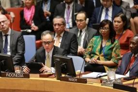 印尼外交副部长在联合国安理会转达保护儿童在和平进程中的重要性