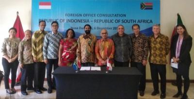 印度尼西亚与南非进行双边磋商鼓励加强具体合作