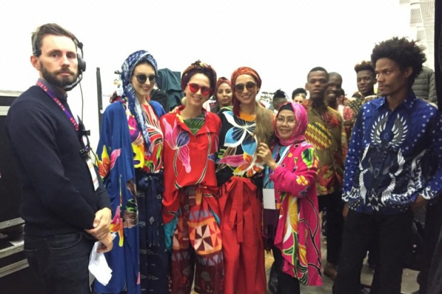 Various Indonesian batik clothing and fabrics were featured at the Indonesian Pavilion at the 2019 Apparel Textile and Footwear (ATF) Trade Exhibition in Cape Town, South Africa, on June 12-14, 2019.