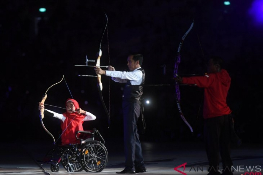 Indonesian President Jokowi opens Asian Para Games 2018