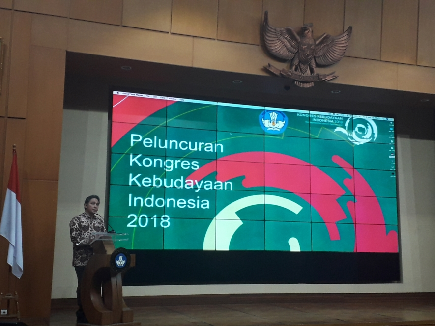 Director General of Culture at the Ministry of Education and Culture, Hilmar Farid  opened the 2018 Cultural Congress at the Ministry of Education and Culture, Senayan in Jakarta, 09.11.2018