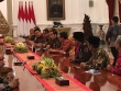President Joko Widodo received an envoy from a number of micro, small and medium business associations on Tuesday afternoon at Merdeka Palace, Jakarta
