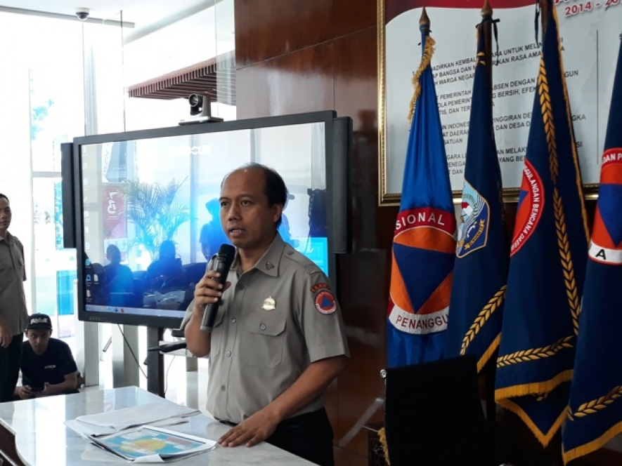 Head of Information and Public Relations Center (PR) ) National Disaster Management Agency (BNPB) Sutopo Purwo Nugroho 06.08.2018