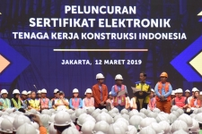 President launched Electronic Certification in Jakarta