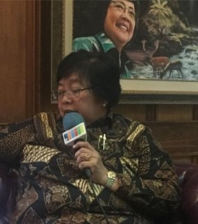 Minister of Forestry and Environment Siti Nurbaya Bakar