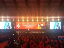 President Joko Widodo attended the opening of the 1st National Working Meeting (Rakernas) and the commemoration of the 47th Anniversary of the Indonesian Democratic Party of Struggle (PDIP) in Jakarta, Friday afternoon (10/01)