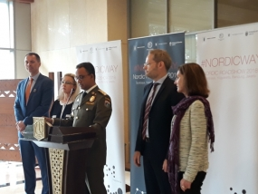 Jakarta Governor Anies Baswedan gives remarks at Nordic Roadshow