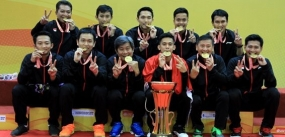 Indonesia retains men's team title at Asian championships