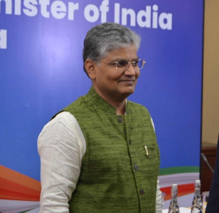 Ambassador of India to Indonesia, Pradeep Kumar Rawat in a press conference on the visit of Indian Prime Minister in Jakarta on Monday (28/05)