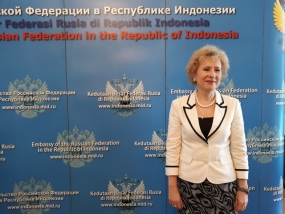 Ambassador of Russian Federation Republic to Indonesia, H.E Lyudmila Georgievna Vorobieva