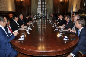 Minister of Trade, Enggartiasto and delegates meet Argentina's Minister of FA and officials