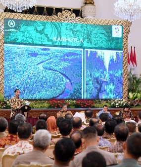 President Appreciates Reduced Number of Fire Points Cause Forest Fire