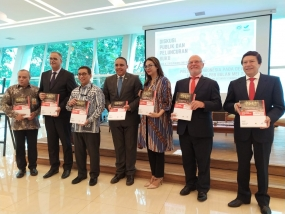 "the launch of a book ""Indonesian Presidency at the UN Security Council in May 2019"", Friday (16/08) at the Ministry of Foreign Affairs, Jakarta"