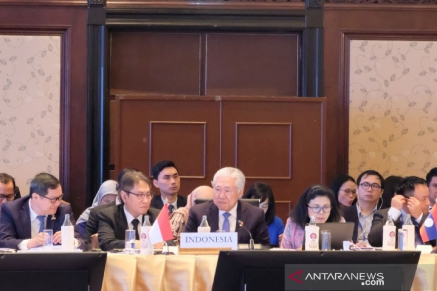 Indonesian Trade Minister Enggartiasto Lukita attended the 51st ASEAN Economic Ministers' Meeting (AEM) in Bangkok, Thailand, on Sunday (Sept 8, 2019)