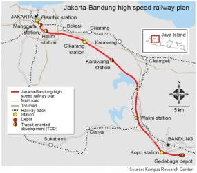 Jakarta-Bandung high-speed train project to be completed in 2020