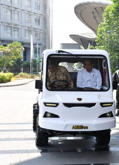 President Tried Rural Vehicle