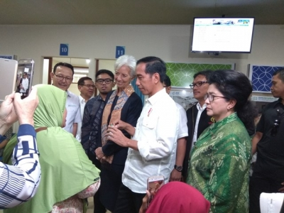 President Jokowi & IMF Managing Director at Pertamina Hospital