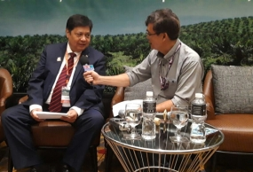 Indonesian Coordinating Minister for the Economy Airlangga Hartarto in an exclusive interview with Voice of Indonesia's reporter Daulat Pane at the 2nd Meeting of the Ministerial Level of Palm Oil Producing Countries in Kuala Lumpur, Malaysia Monday (Nov 18, 2019)