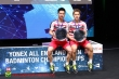 Kevin Sanjaya and Markus Gideon, champions of All England Men's Double  2018. This is the second champion after 2017.