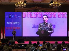 Indonesian President Joko Widodo officially opened the National Working Meeting of the Indonesian Market Management Association -Asparindo in 2018 on Wednesday (12/12)