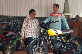 President Joko Widodo at Indonesia International Motor Show