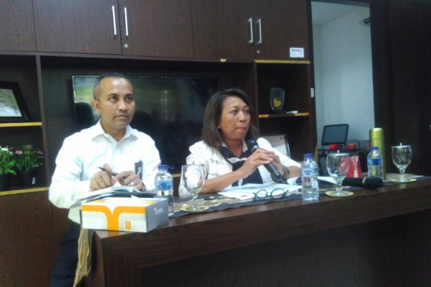 Documentation - Director of Bilateral Negotiations of the Trade Ministry Ni Made Ayu Marthini (right) gave a press briefing on IC CEPA at the Trade Ministry in Jakarta recently (A Rauf Andar Adipati)