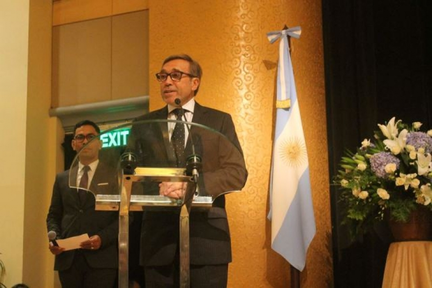 Ambassador of Argentina to Indonesia Ricardo Luis Bocalandro in Argentinal National Day 09.07.2018