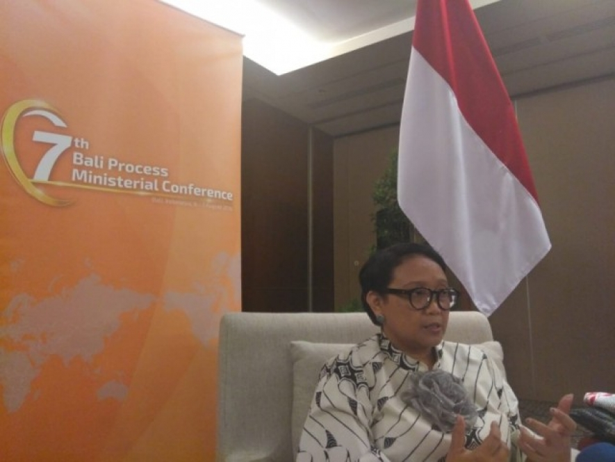 Indonesian Foreign Affairs Minister at Bali Process 06.08.2018